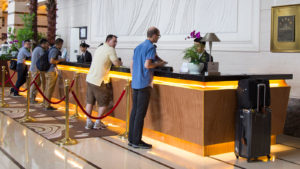 casino guest service - hotel check-in lines