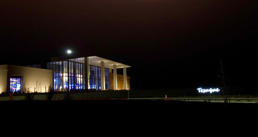 Tesuque Casino - Exterior at Night